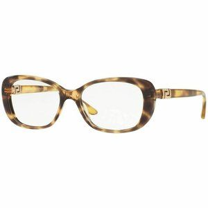 Versace Cat Eye Eyeglasses Havana W/Demo Lens
